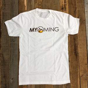 Men's Myoming Tee- White/Yellow