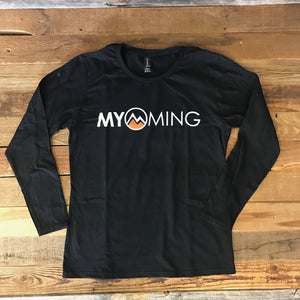 Women's Myoming Black Long Sleeve w/orange