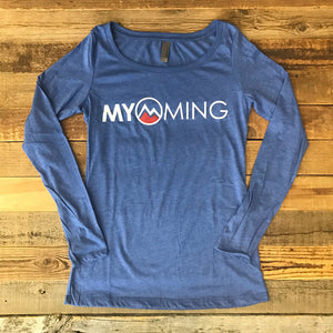 Women's Myoming Long Sleeve- Blue