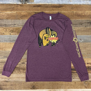 Bison Butts Long Sleeve - Maroon
