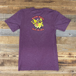 Bison Butts Tee - Maroon