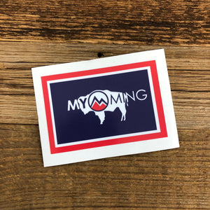 Myoming Flag | WyoMade Accessories | Sticker / Decal