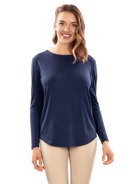 EGI 2140 Blue L/Sleeve Top