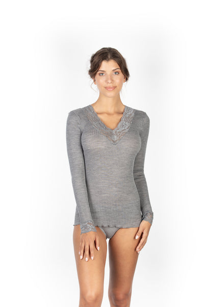 EGI 303 Grey L/Sleeve Top