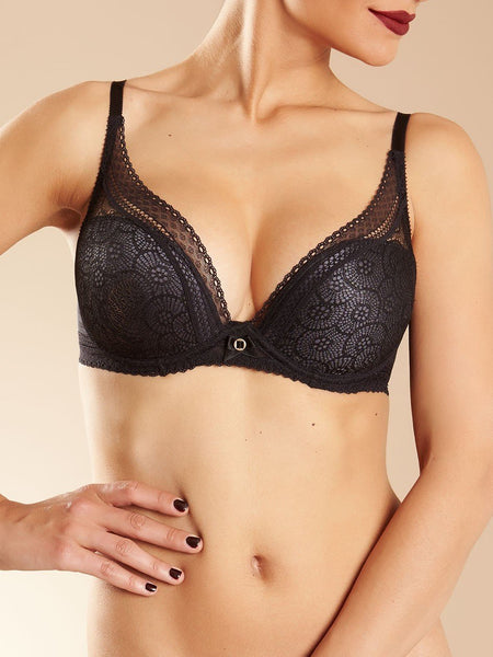 Chantelle Festivite Plunging T-shirt  Black Bra