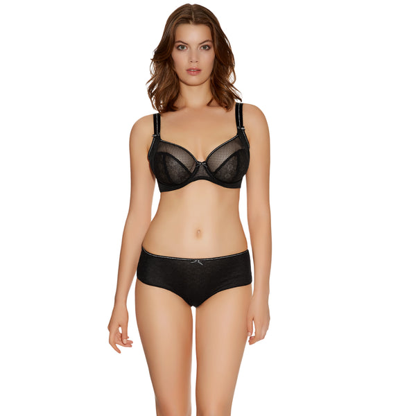 Freya Hero UW Side Support Plunge  Black Bra