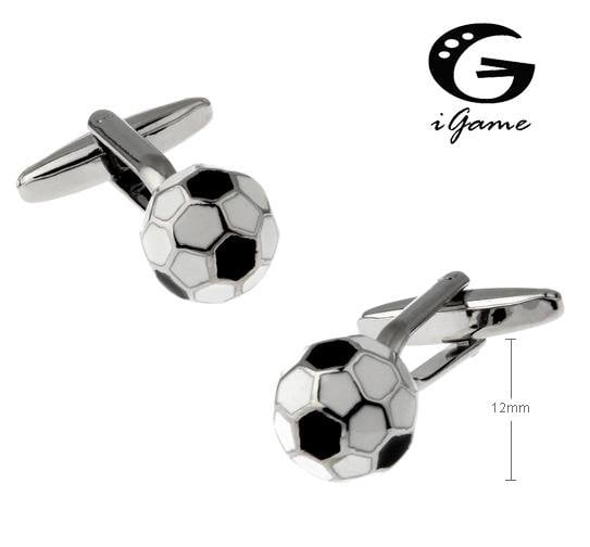 iGame New Arrival Football Cuff Links Soccer Design Free Shipping