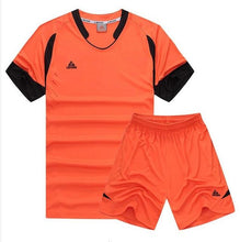 Load image into Gallery viewer, LIDONG New Kids Football Kits Boys Soccer Sets Jersey Uniforms Futbol Training Suits Breathable Polyester Short Sleeved Jerseys