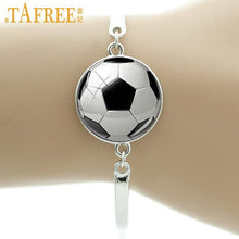 Load image into Gallery viewer, TAFREE Brand Fashion football image bracelet vintage soccer rugby men women ball fans jewelry sports events & teams gifts T802