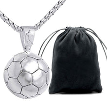 Load image into Gallery viewer, Stylish Silver Soccer Ball Pendant Necklace
