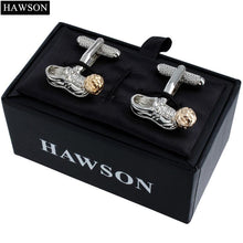 Load image into Gallery viewer, Polished Metal Classy Football Boot Cuff Links - FREE SHIPPING