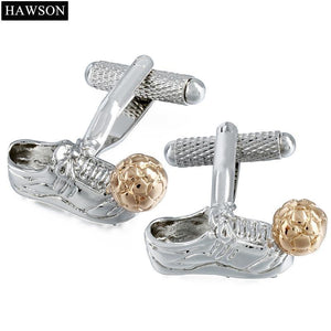 Polished Metal Classy Football Boot Cuff Links - FREE SHIPPING