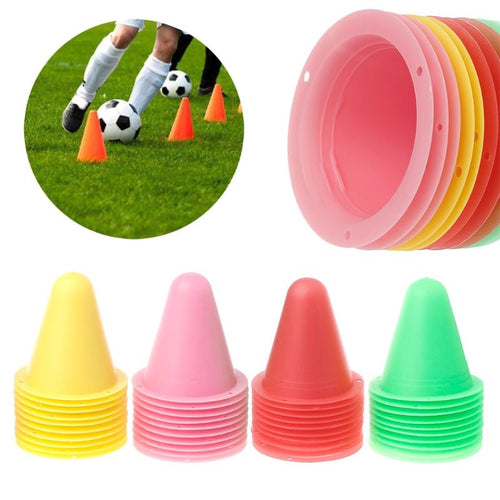 10 Pcs Marker Cones Roller Football / Soccer Training Equipment