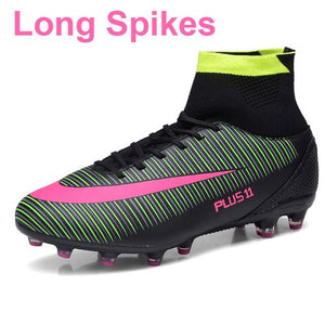 Men's Soccer Boots/Cleats Trainers With Ankle Fabric - FREE SHIPPING