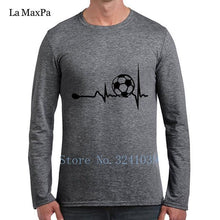 Load image into Gallery viewer, La Maxpa Fitness Tee Shirt Heart Tracing Soccers Regular T-Shirt For Men 2018 Plus Size 3xl Gents Regular Tshirt For Men