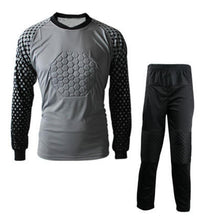 Load image into Gallery viewer, New Premium Kids Soccer Goalkeeper Kit Complete With Long Sleeve Padded Jersey And Long Pants To Match