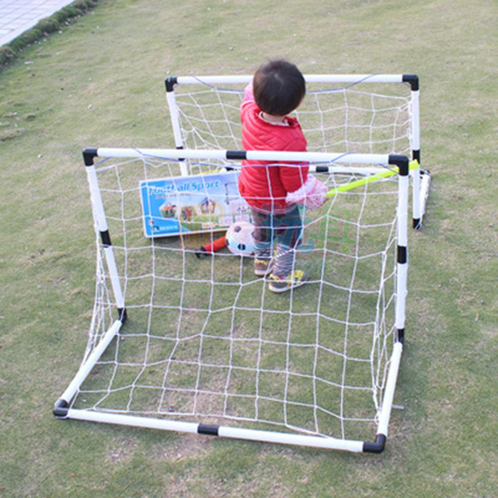 2 Sets Soccer Goals for Kids, Comes With Net, Soccer Ball and Hand Pump - Start Them Young!