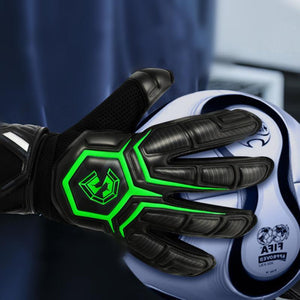 Professional Soccer Goalkeeper Gloves Strong 5 Finger Save Protection Thicken Latex Futebol Goalie Goal Keeper Football Gloves