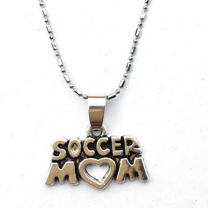 Soccer Mom Necklace With Chain - Great Gift Idea - FREE SHIPPING!