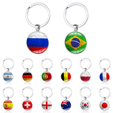 Load image into Gallery viewer, 2018 Hot Football Key Rings - Brazil Germany England France Portugal