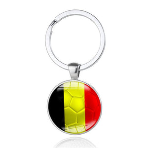 2018 Hot Football Key Rings - Brazil Germany England France Portugal