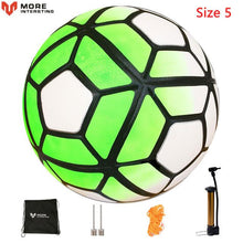 Load image into Gallery viewer, Quality Seamless Soccer Ball With FREE Pump Gift