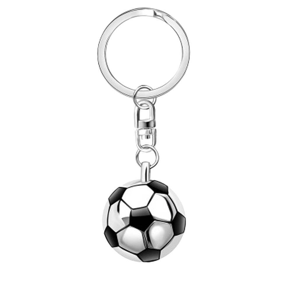Half Football Sports Keyring Creative Keychain Polished   For Car Purse Bag Buckle  3D Pendant Key Chains Men/Women Gift