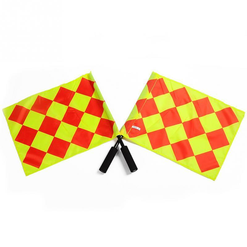 2 x Pcs Quality Football Soccer Referee Linesman Flags