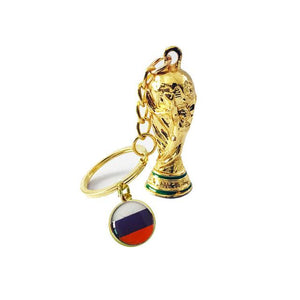 2018 Soccer World Cup Trophy With National Flag Soccer Keyrings - FREE SHIPPING!