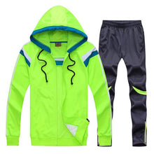 Load image into Gallery viewer, Kids Youth Survetement Football 2018 Soccer Sets Jerseys Pants Jackets De Futbol Sports Kit Jersey Uniforms Suits Tracksuits DIY