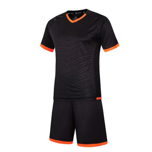 LIDONG New Kids Football Kits Boys Soccer Sets Jersey Uniforms Futbol Training Suits Breathable Polyester Short Sleeved Jerseys