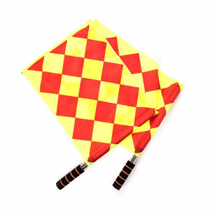 Soccer Referee Flag with Bag Football Judge Sideline Fair Play use Sports Match Football Linesman Flags Referee Equipment  WYQ