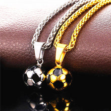 Load image into Gallery viewer, 2018 New Stainless Steel Soccer Ball Necklace With Chain