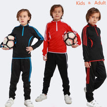 Load image into Gallery viewer, New Autumn Winter Kids Boy's Soccer Jerseys Long Sleeve Youth Football Soccer Uniform Shirt + Pants Training Tracksuit