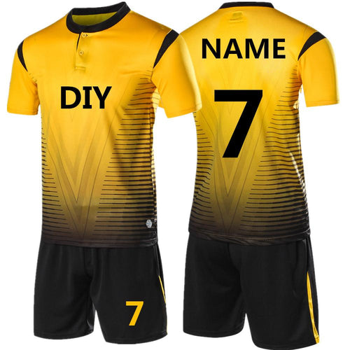 2018 New Kids or Adult Soccer Kit with Shirt and Shorts - Print Your Name On Back FREE!