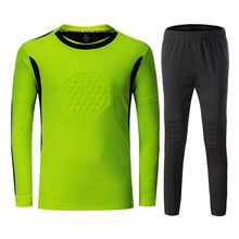 Load image into Gallery viewer, New Soccer Goalkeeper Jerseys Sets Kids Men Sponge Football Goal Keeper Tracksuit Uniforms Kits Goalie Training Tops Pants Suits
