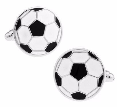 Mens Soccer Ball Brass Stylish Cuff Links - FREE SHIPPING!