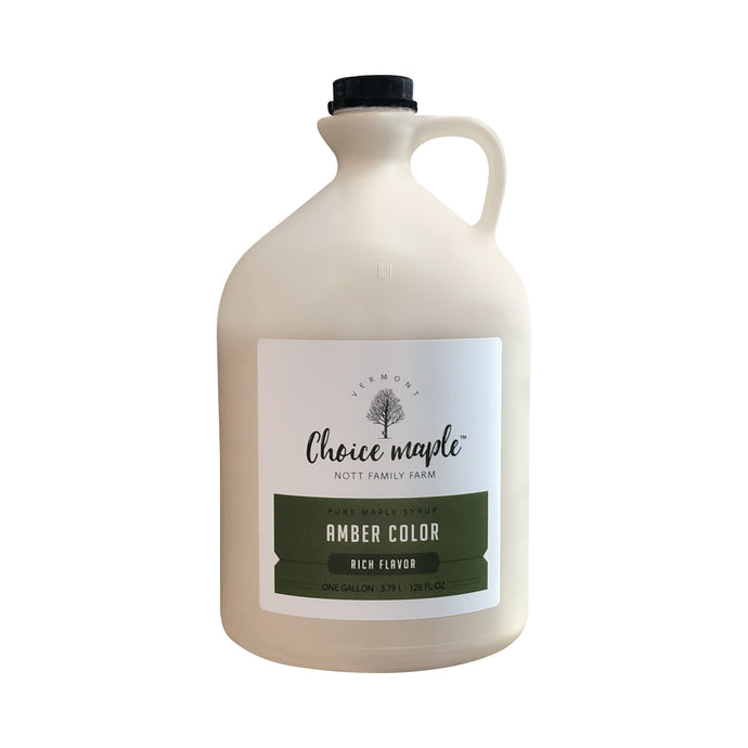 Pure Vermont Maple Syrup Gallon Jug, Amber