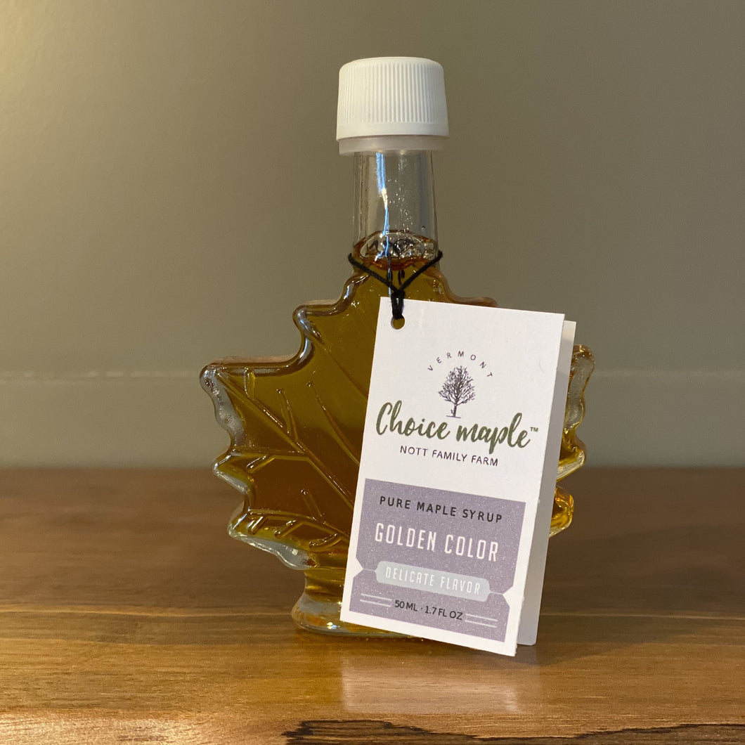 Pure Vermont Maple Syrup, Glass Leaf