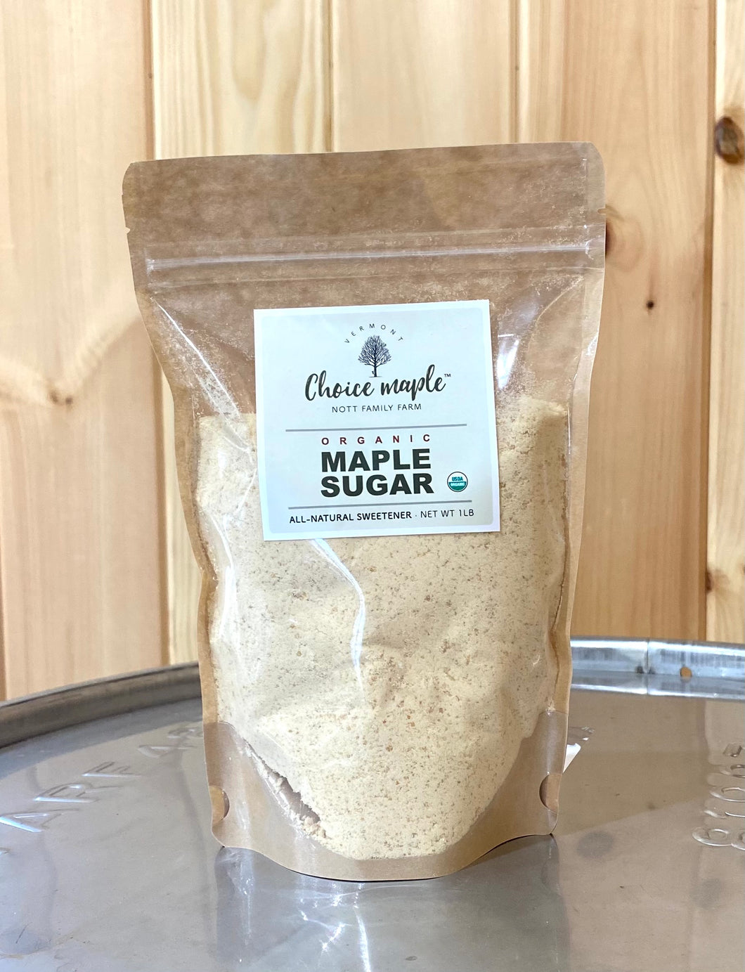 Organic Maple Sugar -  1 lb
