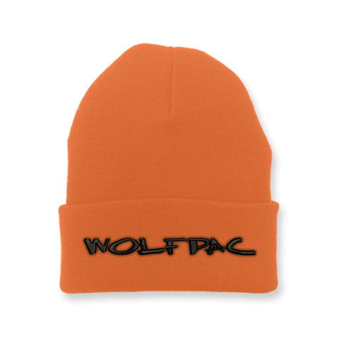 "Wolfpac ""Marker Logo"" Orange Beanie"