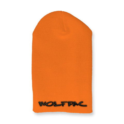 "Wolfpac ""Marker Logo"" Unfolded Orange Beanie"