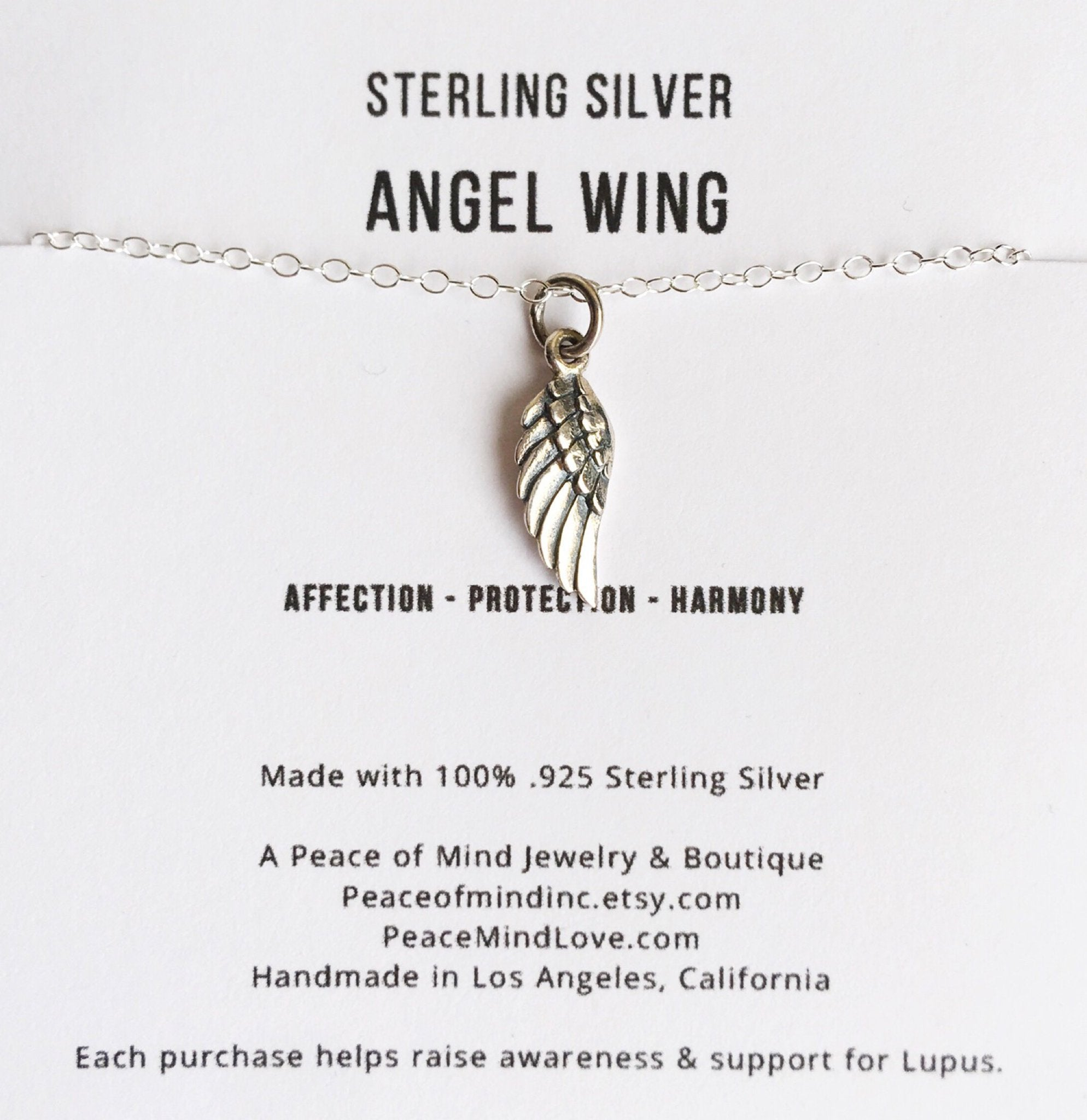 Protection & Harmony - Angel Wing Necklace