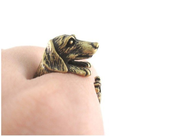 Dachshund Wrap Ring