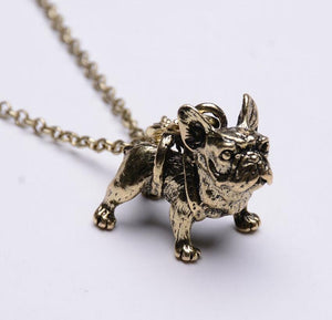 Vintage French Bulldog Necklace
