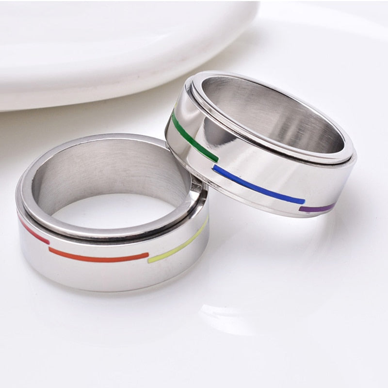 Dashed Rainbow Ring
