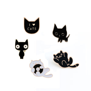Cartoon Animal Enamel Pins