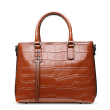Load image into Gallery viewer, Amethyst AA09 Luxury Crocodile Grain Leather Shoulder bag/Tote-Multiple colors