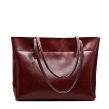 Load image into Gallery viewer, Amethyst AA547B Luxury Comfortable And Generous Leather Tote - Multiple colors
