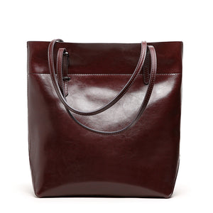 Amethyst AA547 Luxury Comfortable And Generous Leather Tote - Multiple colors